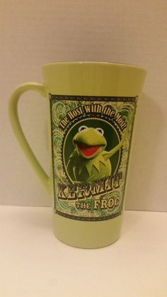Disney Store Kermit the Frog The Host With The Most Coffee Mug Muppet Show #muppetshow #muppets #kermit #kermitthefrog #disney #disneystore