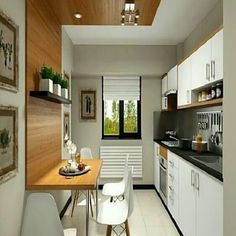 Homestya is a web that discusses home design both interior and exterior. Home Design, Loft Plan, Table Haute, Petites Tables, Cool Apartments, Cuisines Design, Apartment Design, Decoration, Interior And Exterior