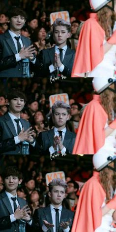 Chanyeol and Sehun. And the derp just manages to surface once again Kpop Exo, Exo Bts, Got7, 2ne1, Shinee, K Pop, Chanyeol Baekhyun, Kim Minseok, Xiuchen
