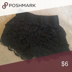 Lacy Ruffle Shorts Worn twice over swimsuit. Small (3/5) No Boundaries Other