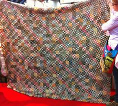 Sue Garman's vintage quilt.  She is remaking this.
