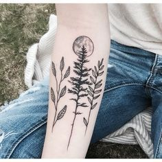 omg this. Just the pine tree with the moon.