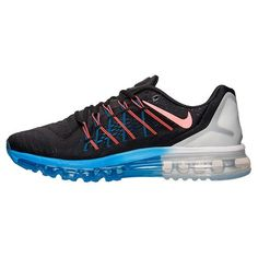 2a824da7308 Nike Air Max 2015 Mens Running Shoes Black Hot Lava White Photo Blue 698902  008