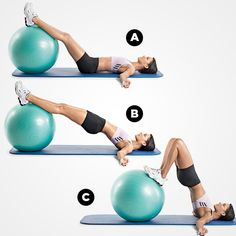 Find out how to perfect this hip raise and leg curl and 7 other awesome moves with THIS workout.