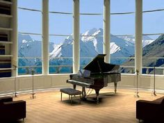 so it probably won't be a grand piano in the window... but who needs a tv when you have that view??