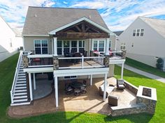 Patio Under Decks, Decks And Porches, Back Patio, Small Patio, Design Jardin, Backyard Patio Designs, Backyard Play, Patio Ideas, Landscaping Ideas