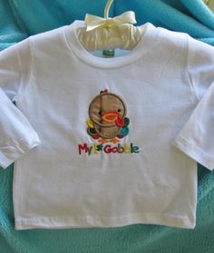 Applique/Embroidered My 1st Gobble Shirt by EmbroiderybyAlison, $14.00