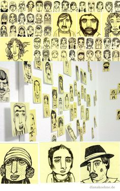 Post-It-Characters are my friends :) von Diana Köhne