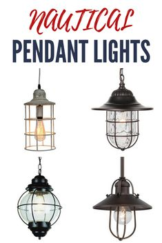 Nautical Pendant Lights! Discover the best nautical themed pendant lighting for your beach home. We love hanging nautical light fixtures in a home.