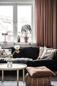 my scandinavian home: Blush / Brown Accents in a Lovely Swedish Home