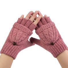 2017 New Winter Gloves 1 Pair Mens Black Knitted Stretch Elastic Thermal Warm Half Finger Fingerless Gloves Wholesale Golves Men's Gloves
