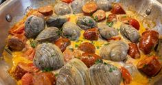 Recipes | Orsara Recipes Types Of Sausage, Cream Sauce Recipes, Chorizo Sausage, Italian Bread, Clams, The Dish, Spicy, Appetizers, Stuffed Peppers
