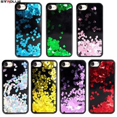 Liquid Glitter Hearts Bling Moving Latest Design Case Cover For Iphone 6 7 Iphone 7 Plus Cases, Iphone 6, Iphone Stand, 6 S Plus, Diamond Glitter, Cute Cases, Clear Silicone, Design Case, Back To Black