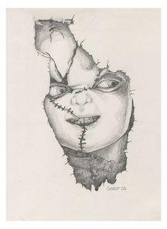 Dibujo A Lapiz De Chucky Pencil Drawing Of Fanart Fan Art Arte Cine Movie