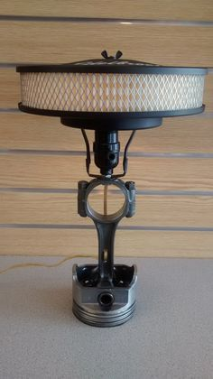 Piston Lamp by ManCaveMetal on Etsy