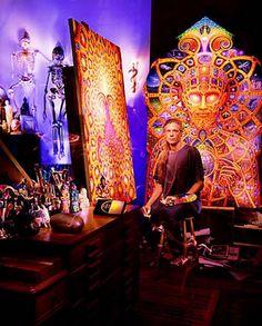 Alex Grey: Artist of Love and Wisdom Alex Grey, Alex Gray Art, Grey Artist, Ohio, Psy Art, Visionary Art, Sacred Art, Psychedelic Art, Art Studios