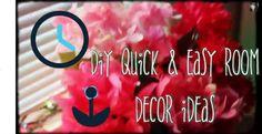 Tutorial – DIY Quick and Easy Room Decor Ideas