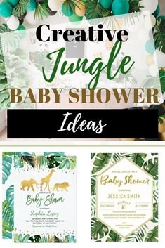 Jungle Baby Shower Theme Decorations For A Gender Neutral Shower - VCDiy
