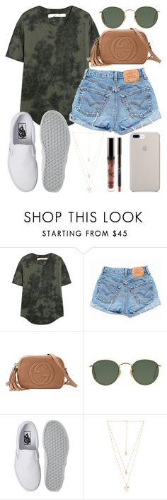 Have an amazing day! by jadenriley21 on Polyvore featuring Raquel Allegra, Levi's, Vans, Gucci, Natalie B and Ray-Ban