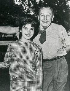 Walt Disney and Beloved Mouseketeer Annette Funicello. This was taken in an era where Disney stars were classy and actually had talent! RIP Annette! I know you're tanning and ridin' the waves in heaven!