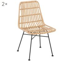 Polyrotan armstoelen Costa, 2 stuks | WestwingNow Tulum, Outdoor Chairs, Outdoor Furniture, Outdoor Decor, Table Teck, Chaise Chair, Terrazzo, New Homes, Living Room