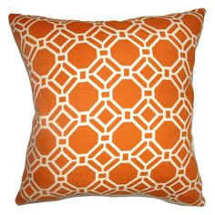 The Pillow Collection Cadena Chain Link Pillow - Clementine - P18-D-42213-CLEMENTINE-C100