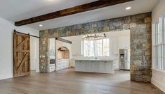 Stone Wrapped Farmhouse Kitchen Entry Carbine And Associates