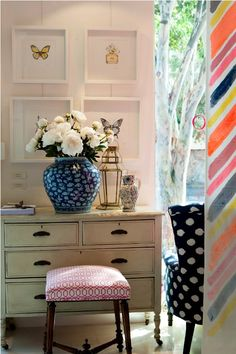 Colors, Butterfly's, Lantern... Styling  #springintothedream @HomesDotCom