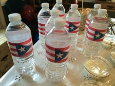 Puerto Rico flag water bottles