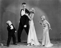 Olga Baclanova, Daisy Earles, Harry Earles, and Henry Victor in Freaks (1932)