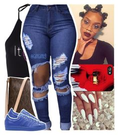 """""""cause im not your f*cking bestfriend"""" by lamamig ❤ liked on Polyvore featuring Michael Kors and adidas Originals"""