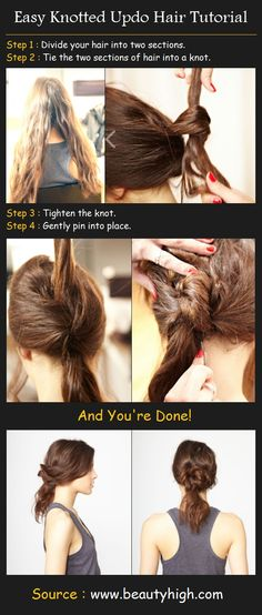 Knotted Up-do Hairstyle | Beauty Tutorials