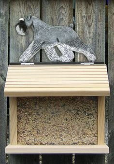 Schnauzer Dog Bird Feeder