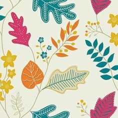 Lacarno Wallpaper by Harlequin 110297 is a dramatic and refreshing leaf and berry trail.  Colour:- Linen, Teal, Tangerine, Cherry Wallpaper type:- Non-woven  52 cm W x 10m L Vertical Pattern Repeat (cm):- 52 cm Match:- Half Drop