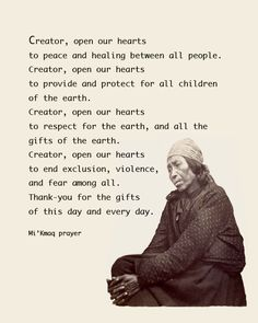 Native American Thanksgiving Prayer   kmaq micmiac prayer for thanksgiving c fakepath m ikmaq micmac prayer ...