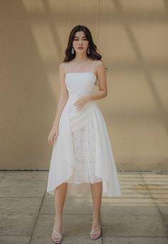 Xưởng May Bán Sỉ Váy Đầm Thiết Kế | Hotline 0909566708 – AlvinStore.Vn Simple Dresses, Elegant Dresses, Pretty Dresses, Beautiful Dresses, Short Dresses, 70s Fashion, Asian Fashion, Girl Fashion, Fashion 2020