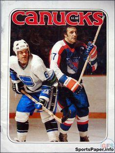 NHL Program  Vancouver Canucks (1977-78) Hockey Boards 3bcac9b88
