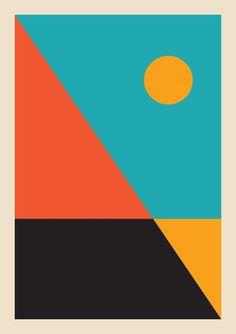 Framed Sun Print Geometric sunrise geometric landscape sea prints printed … - Sites new Geometric Art, Geometric Designs, Posca Art, Graphisches Design, Tableau Design, Illustration Art, Illustrations, Poster Design, Grafik Design