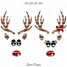 Reindeer face svg - Reindeer svg - Christmas svg - svg christmas files - Christmas shirt svg - reindeer svg files - Christmas clipart by ZemmaDesigns on Etsy https://www.etsy.com/listing/473144560/reindeer-face-svg-reindeer-svg-christmas
