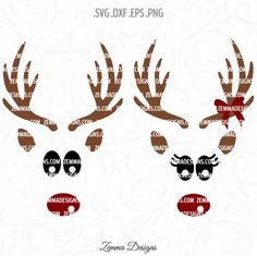 Reindeer face svg - Reindeer svg - Christmas svg - svg christmas files - Christmas shirt svg - reindeer svg files - Christmas clipart by ZemmaDesigns on Etsy https://www.etsy.com/listing/473144560/reindeer-face-svg-reindeer-svg-christmas