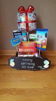 Over the hill birthday basket :)