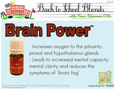 Essential oil to increase mental focus, reduce brain fog