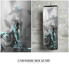 CASHMERE SILK SCARF  With an opulent blend of cashmere and silk - featuring unique, stunning artwork - wear this beautiful scarf indoors or out, day or night, to elevate any wardrobe all season and year-long.  @shopvida