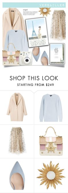 Outfit for Versailles by rosalie45 on Polyvore featuring moda, DKNY, Valentino, Giancarlo Petriglia, Jonathan Charles Fine Furniture and Fujifilm