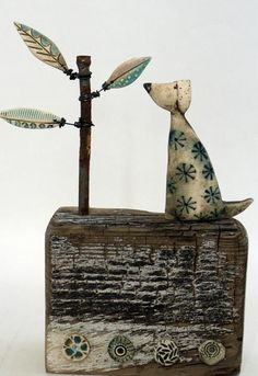 Doggy and Leaf Stem - Shirley Vauvelle