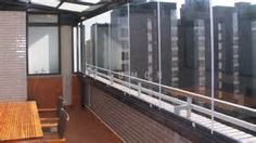 combination of terrace and balcony glazing + balustrade