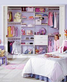 Kids: 3 racks of shirts or skirts, 2 racks of dresses or pants