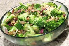 Broccoli with olives almondine, a recipe from Gaia's Table, an upcoming SpiderHawk cookbook.