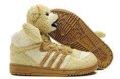 It is Animal shoe, it is lovely, many kis like it very much. Kid Shoes, Me Too Shoes, Baby Shoes, Jeremy Scott Adidas, Rose Adidas, Brown Shoe, Panda Bear, White Women, Running Shoes
