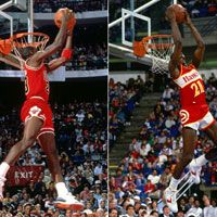 1988 Slum Dunk Contest: are you a beatle (Jordan) or a Rolling Stone (Wilkins)?
